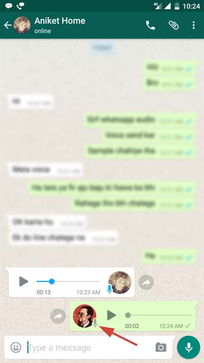 Whatsapp Voice Message Not Played Sign image