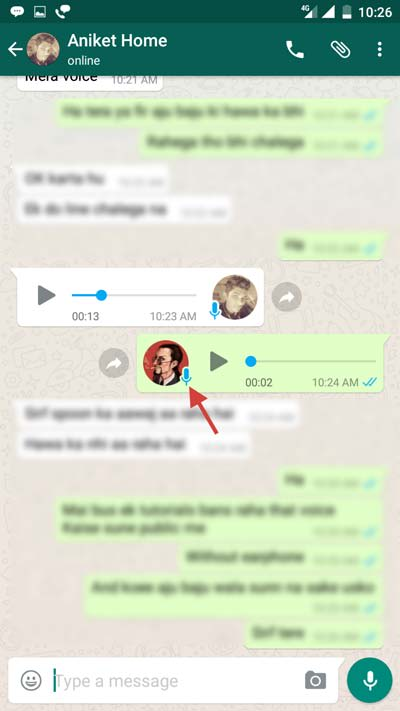 Whatsapp Voice Message Played Sign
