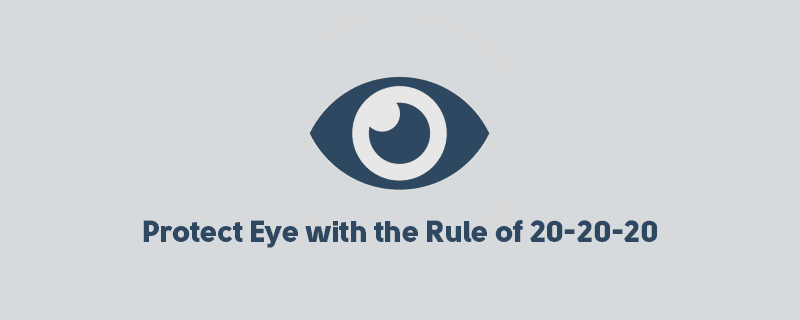 How To Protect Your Eyesight From Computer Screen? 20-20-20 image