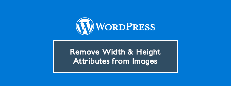 Remove Width & Height Attributes from Images in Posts (WordPress) ✌️ image