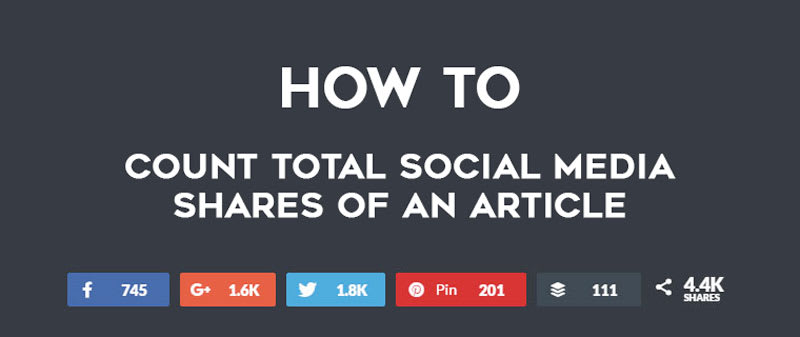 Social Share Count – How To Count Total Social Media Shares of An Article? image