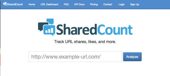 SharedCount Get total Share Image