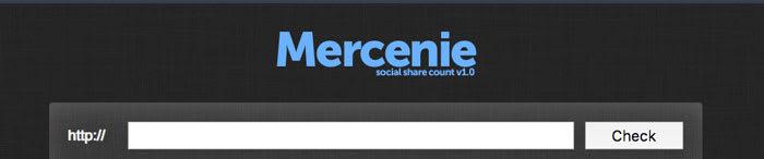 Mercenie Social Share Online Count Screenshot Image