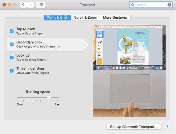Trackpad of Macbook screenshot Image
