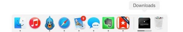 Dock of Macbook Image