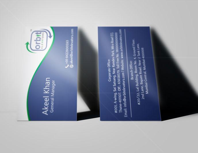 Orbit Elevator Business Card Image
