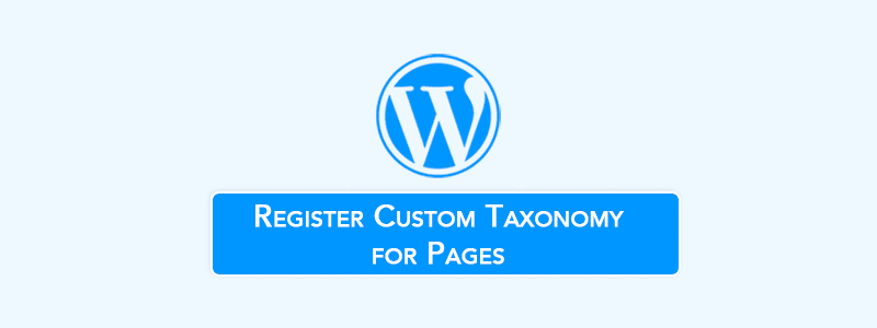 Register Custom Taxonomy for Pages (Step by Step) Without Plugin image