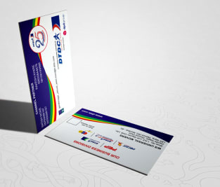 DTDC Business Card Image
