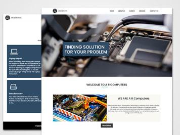 AR Computers Website Image