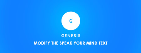 Modify the Speak Your Mind Text in Genesis Without Plugin image