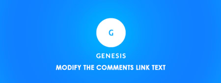 Modify the Comments Link Text in Genesis with Code image