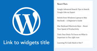 How to Link Widget Titles in WordPress without using a Plugin image