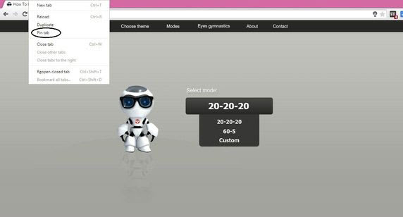Pining eye vision website image