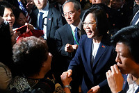 Taiwanese leader arrives in the...