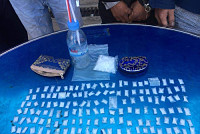 Detained 7 people distributing drugs...