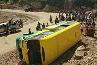 Twenty-five people were injured in a...