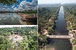 The Angkorian irrigation system came...