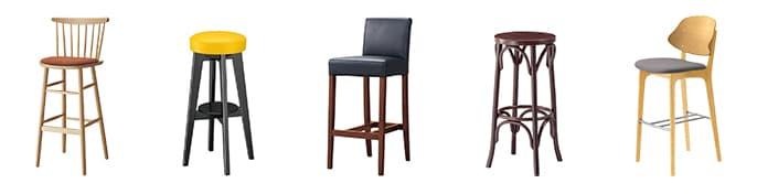 木製カウンター椅子
