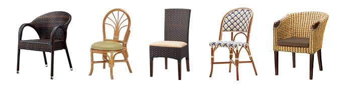 ラタン椅子