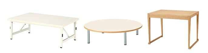 幼児施設テーブル