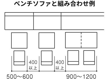角テーブルのレイアウト02