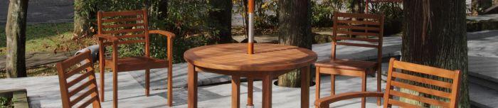 チーク家具は屋外で使えます