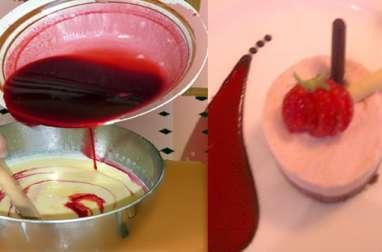 Crème renversée aux framboises, sans gluten