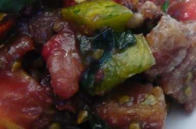 Panzanella en déclinaison de tomates