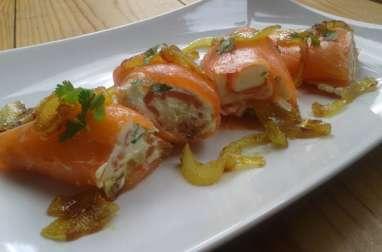Roulade de saumon Bollywood !