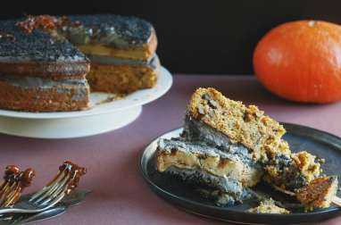 Naked cake d'Halloween aux carottes