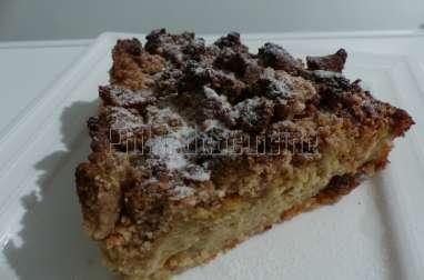 Crumb'cake pomme amande sans gluten à la farine de souchet