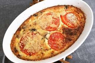 Clafoutis champignons tomates
