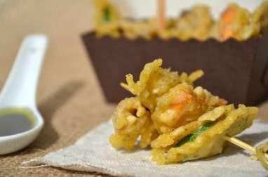 Brochettes de tempura de légumes