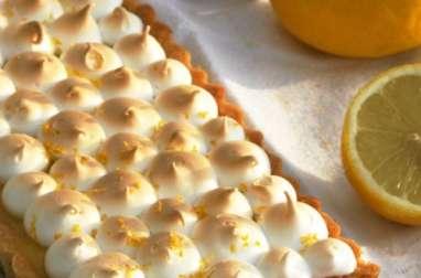 Tarte au citron, meringue à la bergamote