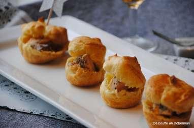 Mini choux au foie gras