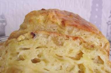 Cake aux oignons caramélisés et au fromage normand