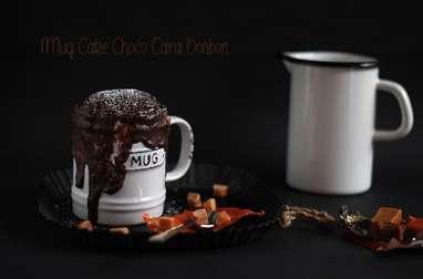 Mug Cake Bonbon Caramel et Chocolat