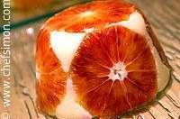 Gateau de semoule aux oranges confites