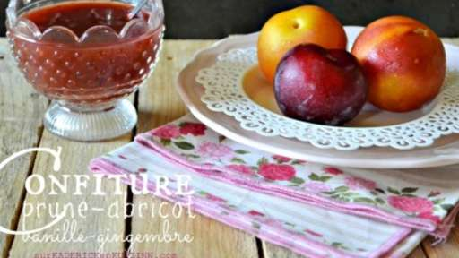 confiture abricot vanille gingembre