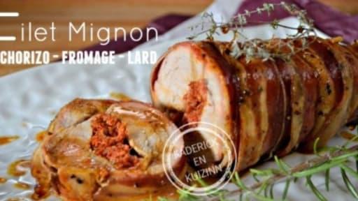 Filet Mignon De Porc Farci Chorizo Fromage Enroule De Lard Recette