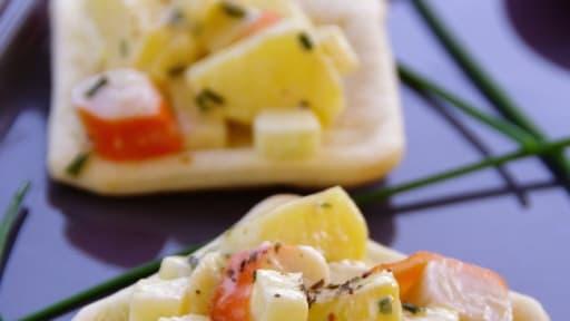 Bouchees De Surimi Aux Pommes En Version Chaud Froid Recette Par