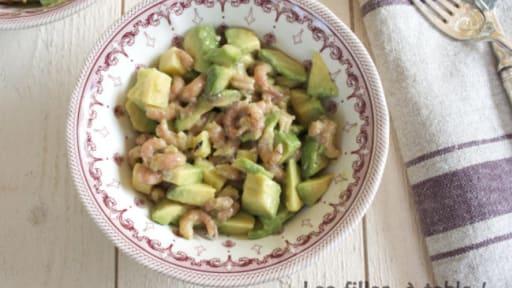 Salade D Avocats Et Crevettes Grises Recette Par Les Filles A Table