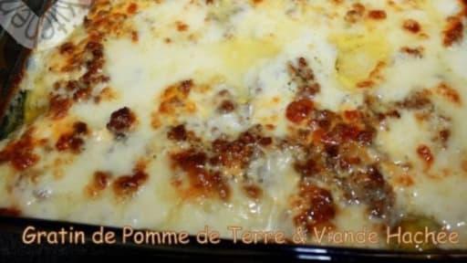 Gratin De Pomme De Terre Viande Hachee Et Sauce Bechamel Recette