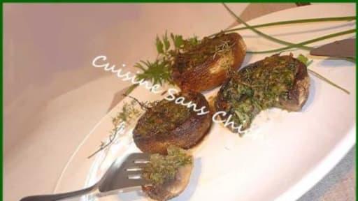 Champignons De Paris Farcis Aux Herbes Fraiches Recette Par