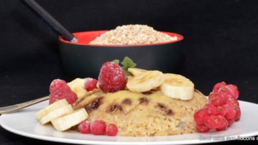 Bowl Cake Aux Flocons D Avoine Banane Et Pepites De Chocolat