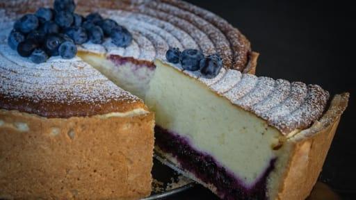 Kasekuchen Tarte Au Fromage Blanc Facon Cheesecake Aux Myrtilles