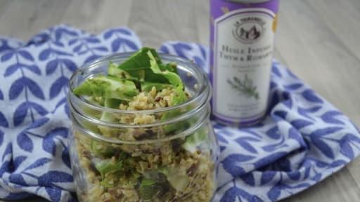Salade De Quinoa Aux Feuilles De Chou Fleur Et Graines De Tournesol