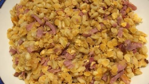 9a4dea8cef01a Lentilles corail au bacon et au blé façon risotto - Recette par ...