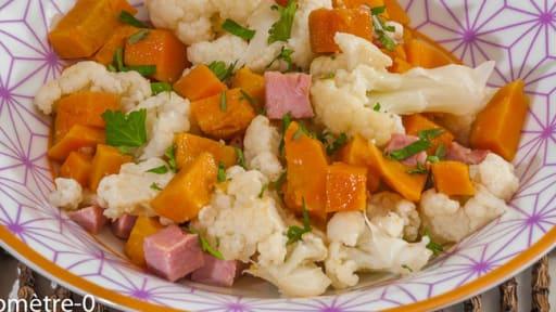 Salade De Chou Fleur A La Patate Douce Et Au Jambon Blanc Recette