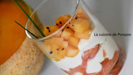 Verrine Au Saumon Fume Melon Et Creme D Artichaut Recette Par